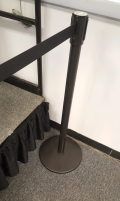 Rental store for BLACK STANCHION WITH RETRACTABLE BELT in Buffalo NY